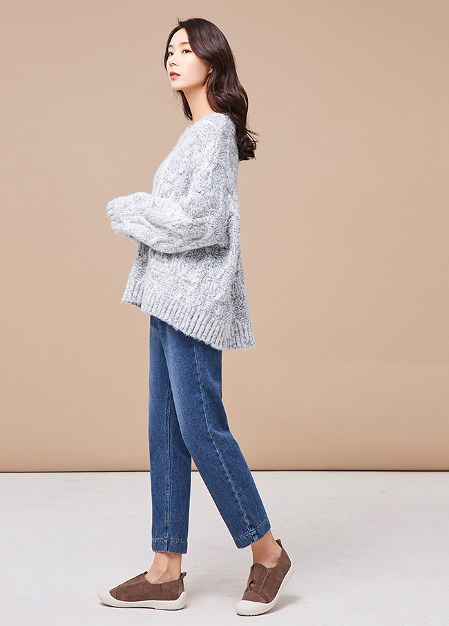 (3FNT093) Daily Wool Shaggy Knit