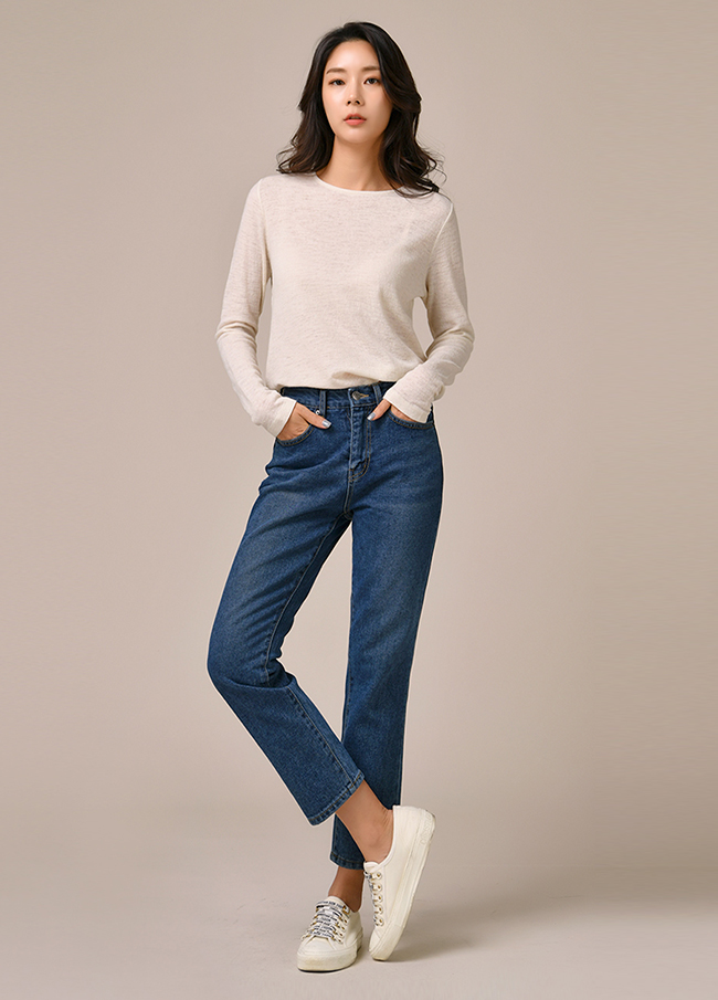 (3FPT148) 773 napping straight Denim