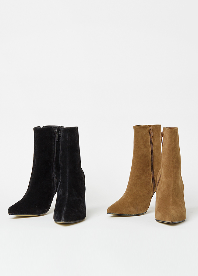 (3FSH108) 6155 Modern Suede ankle boots