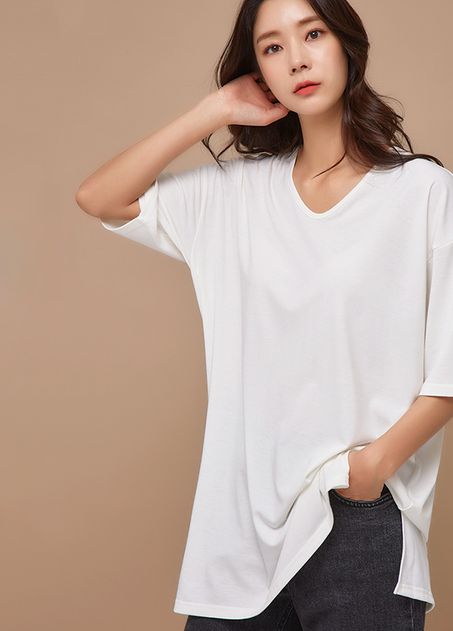 (3FTT083) simple cotton napping T-shirt
