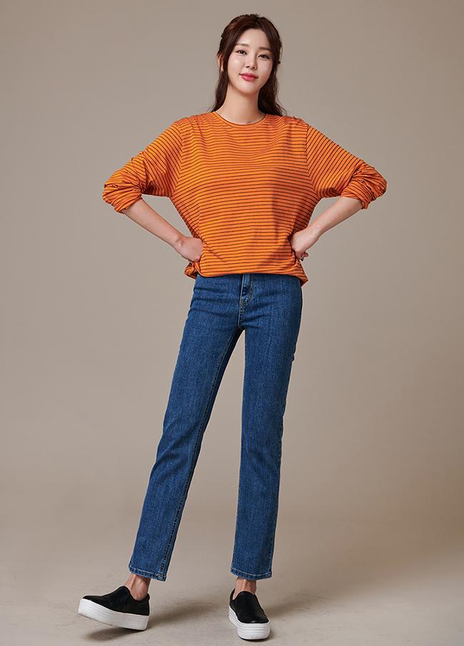 (3FPT186) Straight High Denim Pants