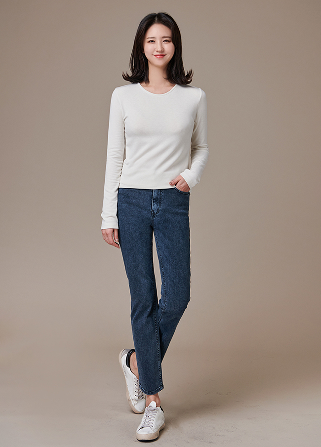 (3FPT190) Straight Fit dark Jeans