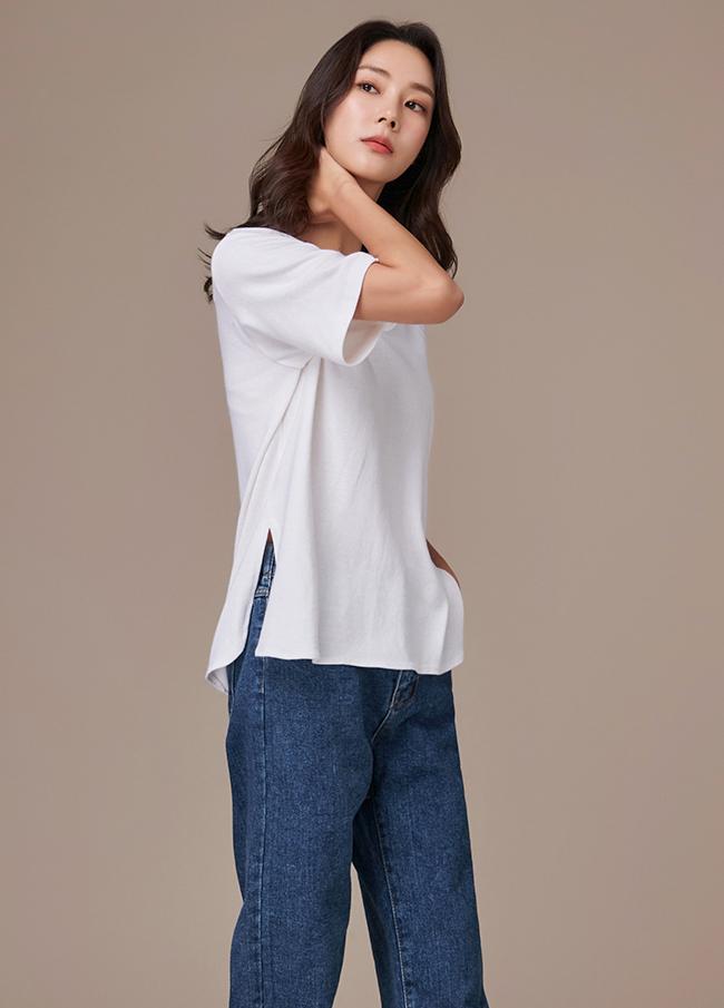 (3FTT100) Daily Cotton Round T-shirt