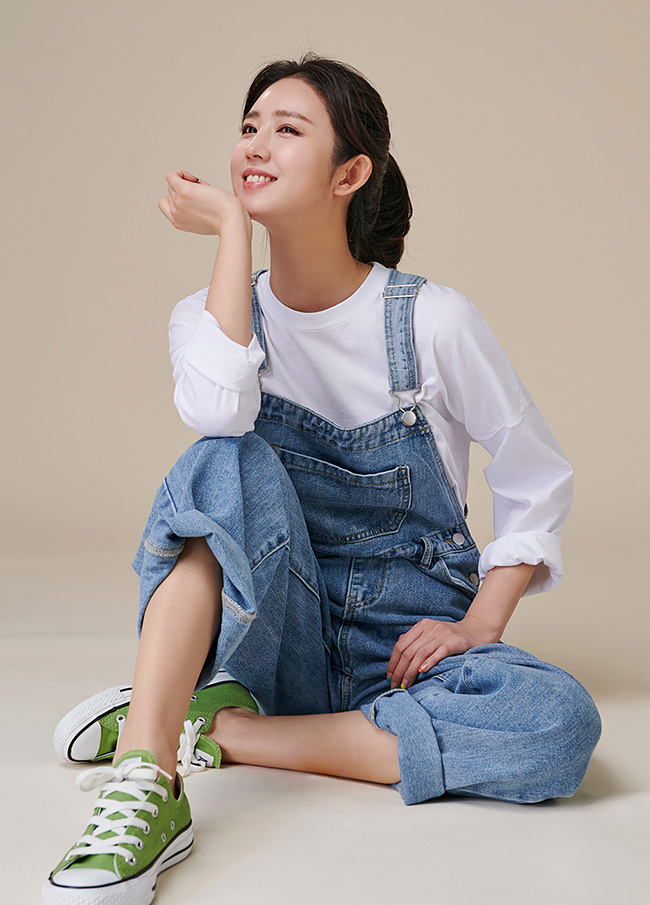 (3FOP150) Pocket Denim Shoulder strap Jumpsuit