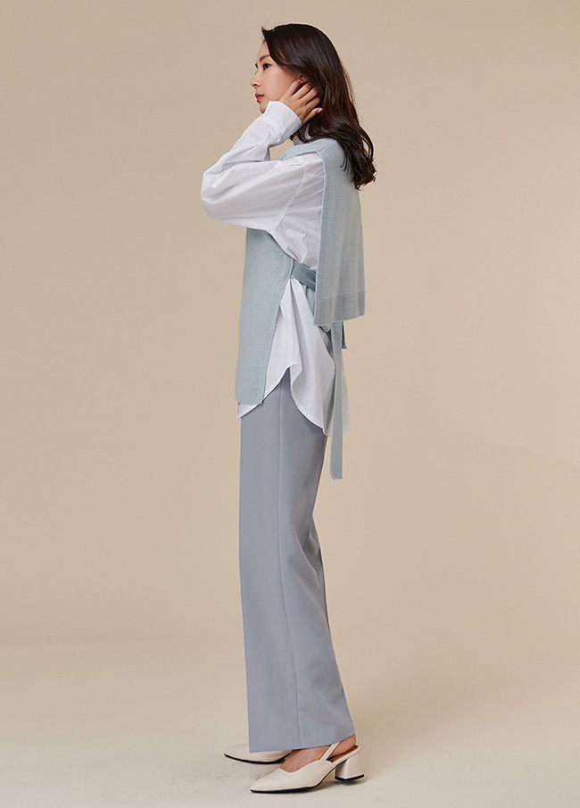 (4SVT005) Bag string Wool Vest