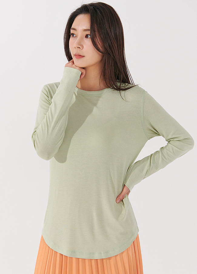 (4STT048) simple Span Round T-shirt