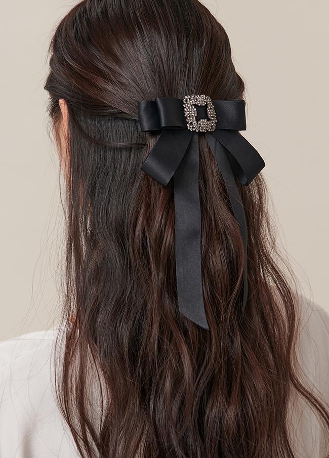 (4SAC015) Satin bowknot Hair pin