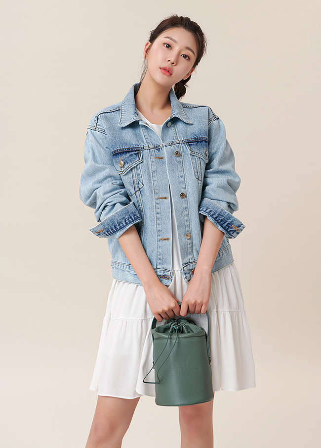 (4SJK034) Washing Denim Jacket
