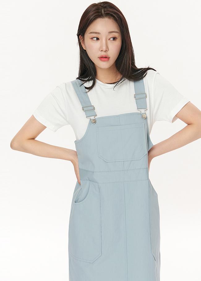 Pocket Cotton Shoulder strap One Piece