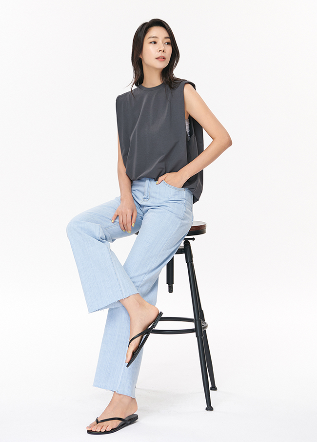 (4SPT186) Cotton Straight Denim