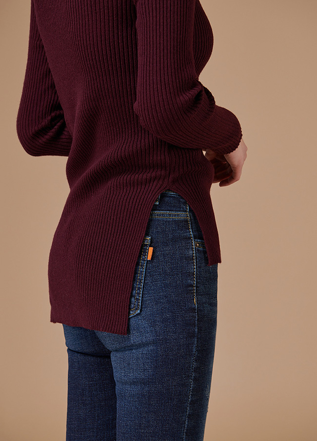 (4FNT040) Unfoot Highneck Basic Knit