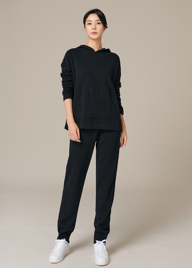 (4FPT101) Wool Twiddle Banding Knit Pants
