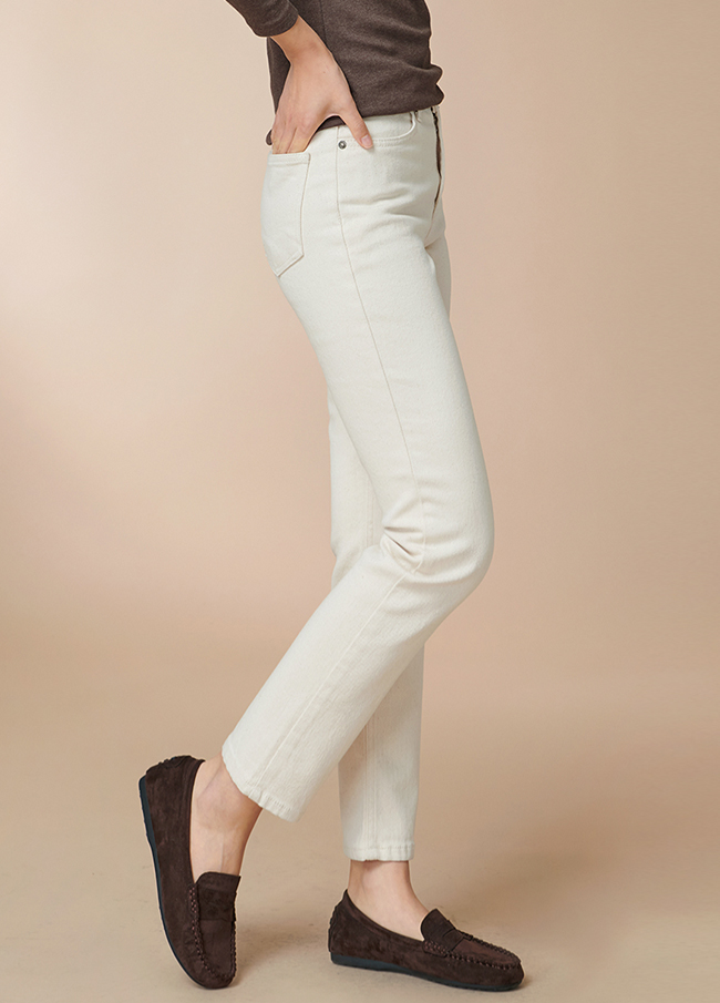 (4FPT088) Cotton straight napping Pants