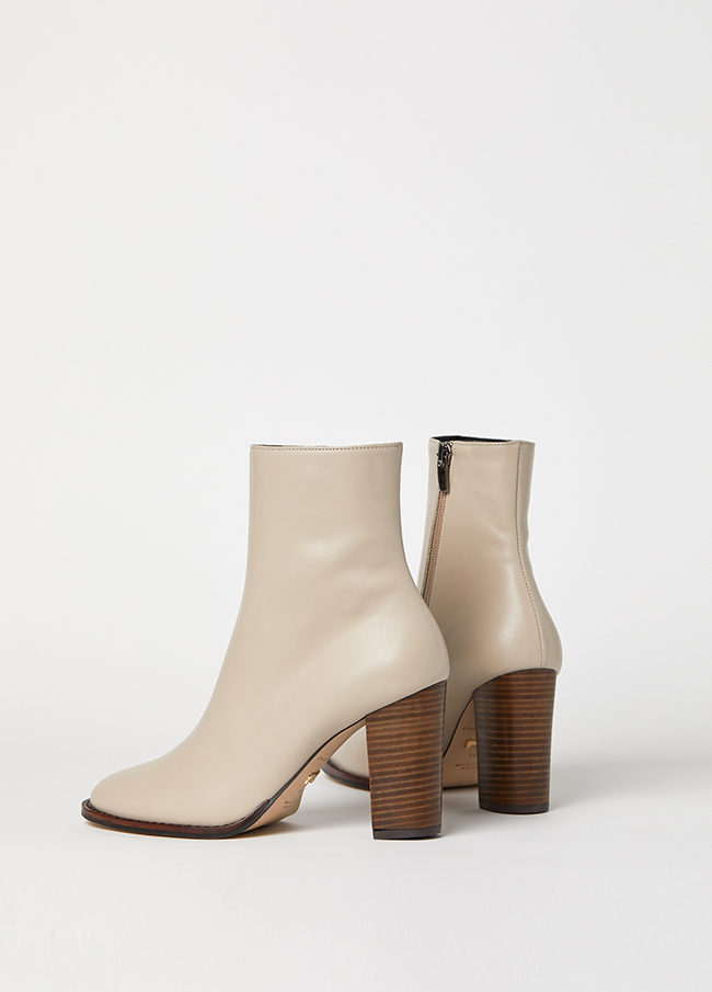 (4FSH039) 50098 Wood Ankle Boots