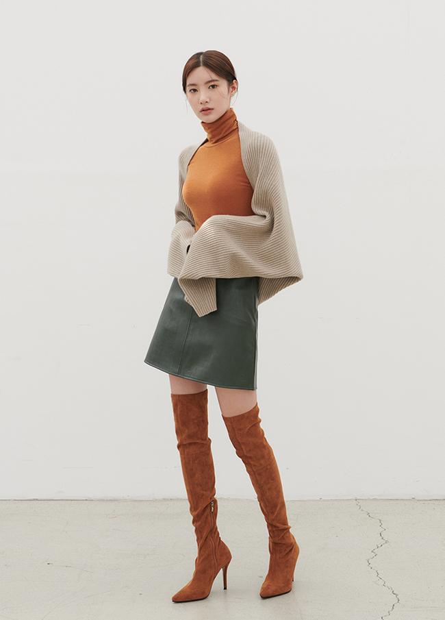 Corrugated Long Sleeve Shawl Cardigan